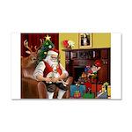 Santa's Whippet Car Magnet 20 x 12