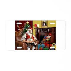 Santa's Whippet Aluminum License Plate