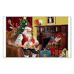 Santa's Whippet Sticker (Rectangle 50 pk)