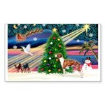 Xmas Magic & Whippet Sticker (Rectangle)