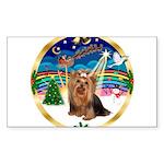 XmasMusic3/Yorkie #7 Sticker (Rectangle 10 pk)
