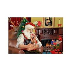 Santa / Yorkie (#9) Rectangle Magnet (10 pack)