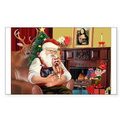 Santa / Yorkie (#9) Decal