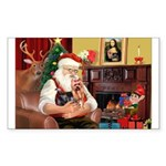 Santa / Yorkie (#9) Sticker (Rectangle 50 pk)