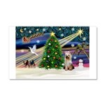 Xmas Magic/Yorkie #2 Car Magnet 20 x 12