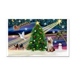 Xmas Magic/Yorkie #2 Rectangle Car Magnet