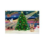 XmasMagic/Yorkie #17 Rectangle Magnet (10 pack)