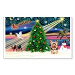 XmasMagic/Yorkie #17 Sticker (Rectangle 10 pk)
