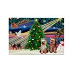 XmasMagic/2 Yorkies Rectangle Magnet