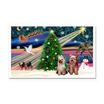 XmasMagic/2 Yorkies Rectangle Car Magnet