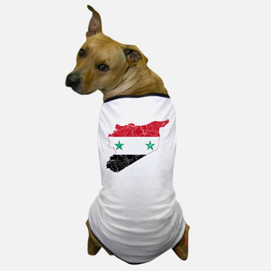Syria Flag And Map Dog T-Shirt