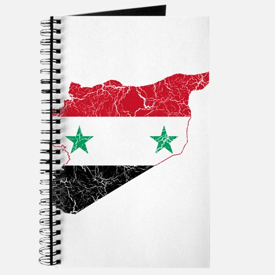 Syria Flag And Map Journal