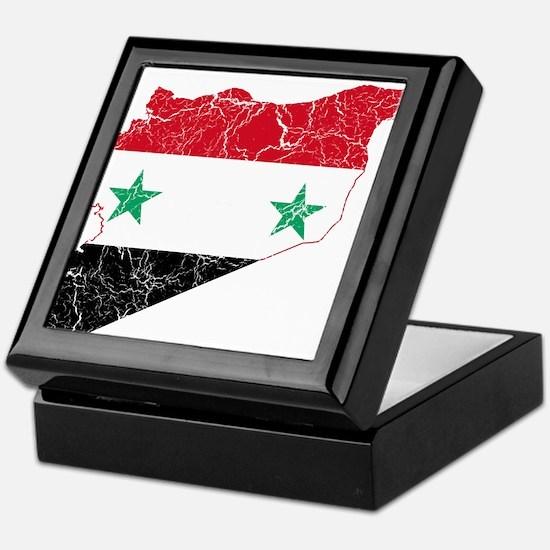 Syria Flag And Map Keepsake Box