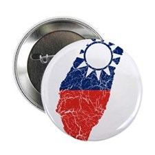 "Taiwan Flag And Map 2.25"" Button"