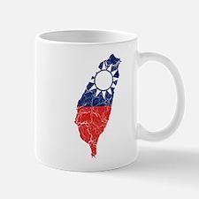 Taiwan Flag And Map Mug