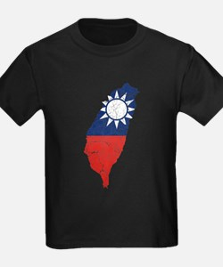 Taiwan Flag And Map T