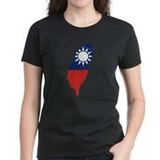 Taiwan Flag And Map Tee
