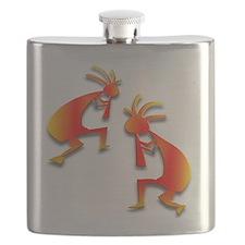 Two Kokopelli #6 Flask