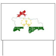 Tajikistan Flag And Map Yard Sign