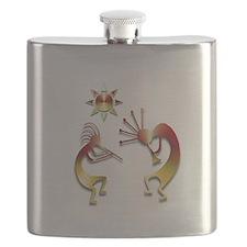 Two Kokopelli #107 Flask