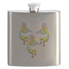 Three Kokopelli #13 Flask