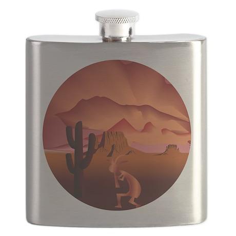 Southwest Kokopelli Flask