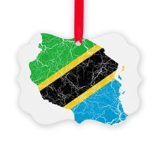 Tanzania Flag And Map Ornament