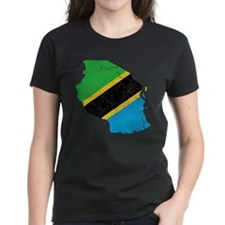 Tanzania Flag And Map Tee