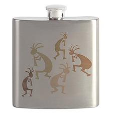 Five Woods Kokopelli Flask