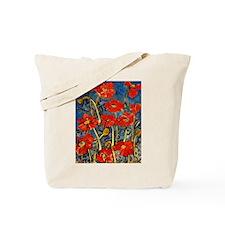 Poppy Swirls Tote Bag