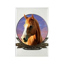 Horse sunset crest Rectangle Magnet