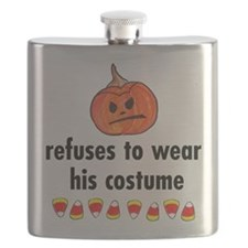 refuses to wear his costume Flask