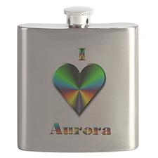 I Love Aurora #4 Flask