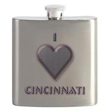 I Love Cincinnati #5 Flask