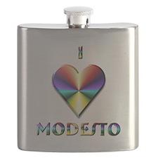 I Love Modesto #6 Flask