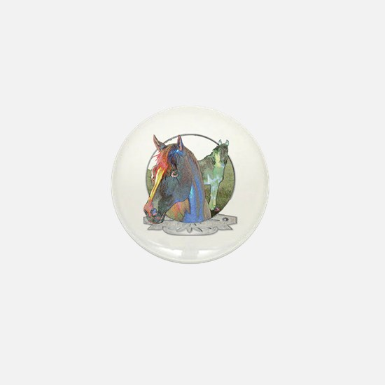 Horses,pastel Mini Button (100 pack)