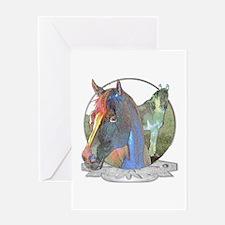 Horses,pastel Greeting Card