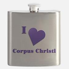 I Love Corpus Christi #18 Flask