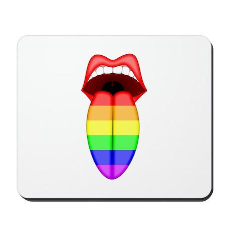Rainbow Tongue Mousepad