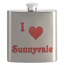 I Love Sunnyvale #21 Flask
