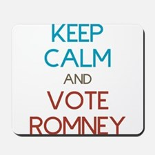 Keep Calm and Vote Romney Mousepad