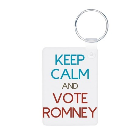 Keep Calm and Vote Romney Aluminum Photo Keychain