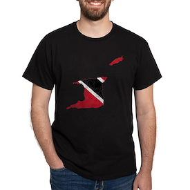 Trinidad And Tobago Flag And Map T-Shirt