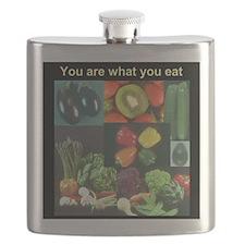Food Collage Three Flask