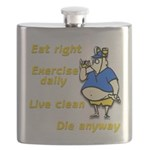 Eat right, Die anyway Flask