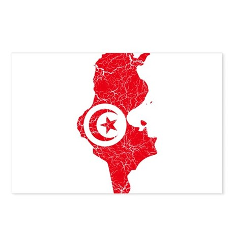 Tunisia Flag And Map Postcards (Package of 8)