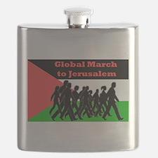 Global March to Jerusalem Flask