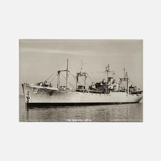 USS MAZAMA Rectangle Magnet