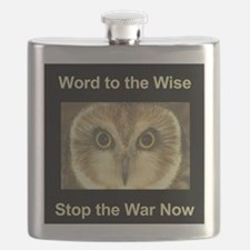 Stop the War Owl Flask