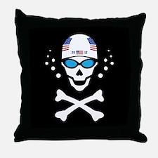 Lil' Swim'n Skully Throw Pillow